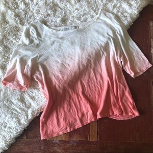 Anthropologie | Ombré Dip Dyed Pullover Tee